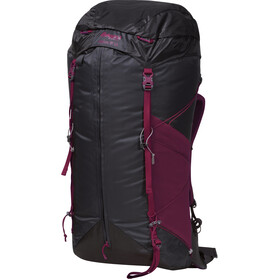 Bergans Helium 55 Mochila Mujer, solid charcoal/beet red
